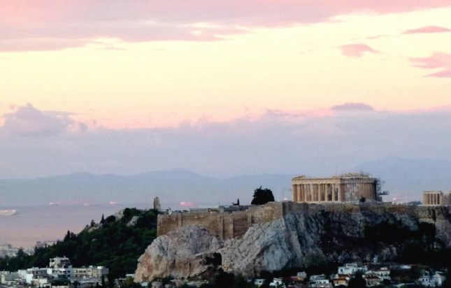 The Acropolis at sunrise, Athens