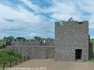 Hadrian's Wall reconstruction at Vindolanda