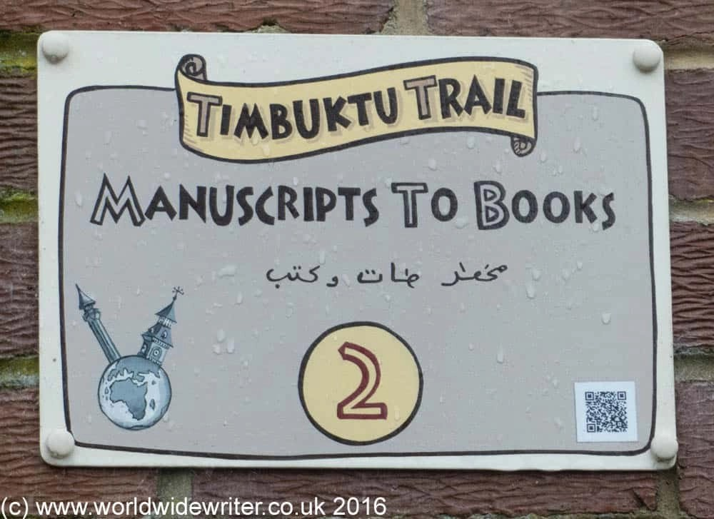Timbuktu Trail sign