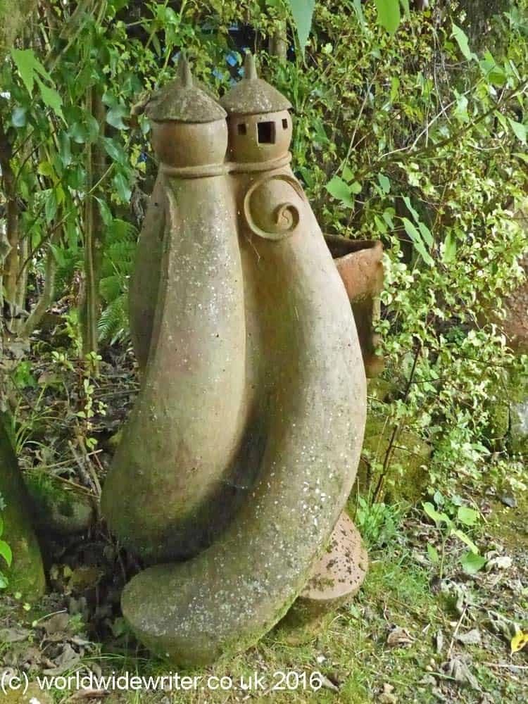 Sculpture garden at the Driving Creek Railway