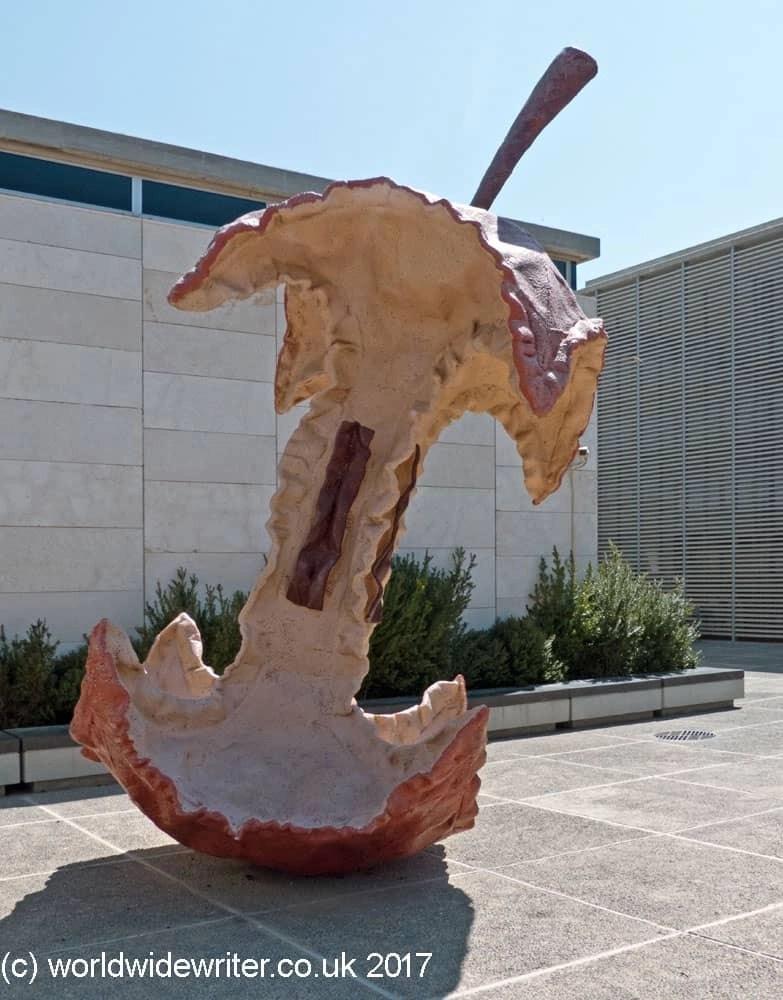 Apple Core sculpture