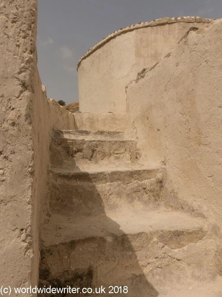 Reconstructed stone stairway at Choirokitia