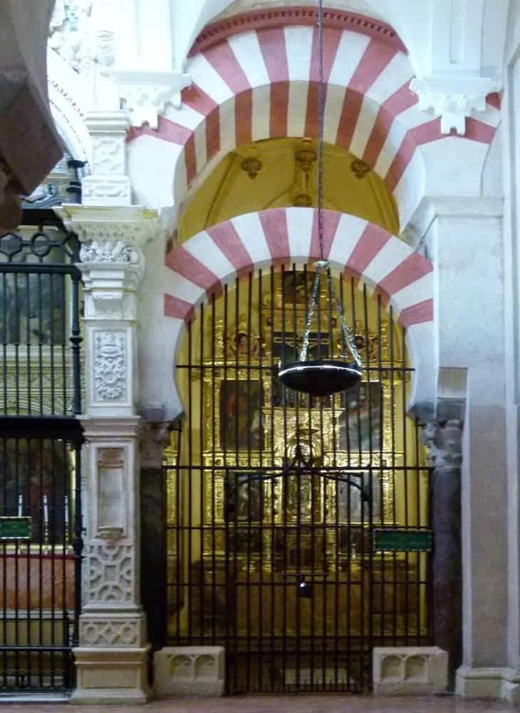Side chapel in La Mezquita, Cordoba