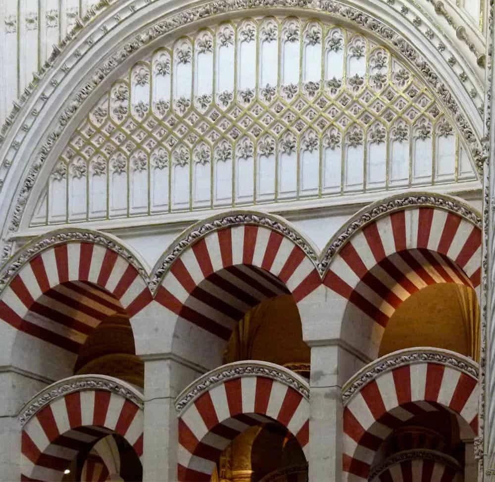 Arches in La Mezquita, Cordoba