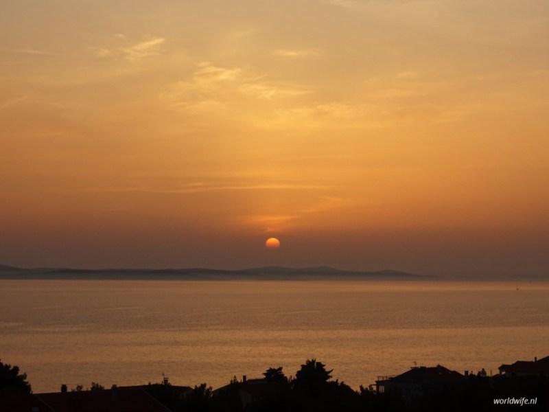 Zonsondergang in Zadar