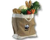 WWF Panda logo large jute bag