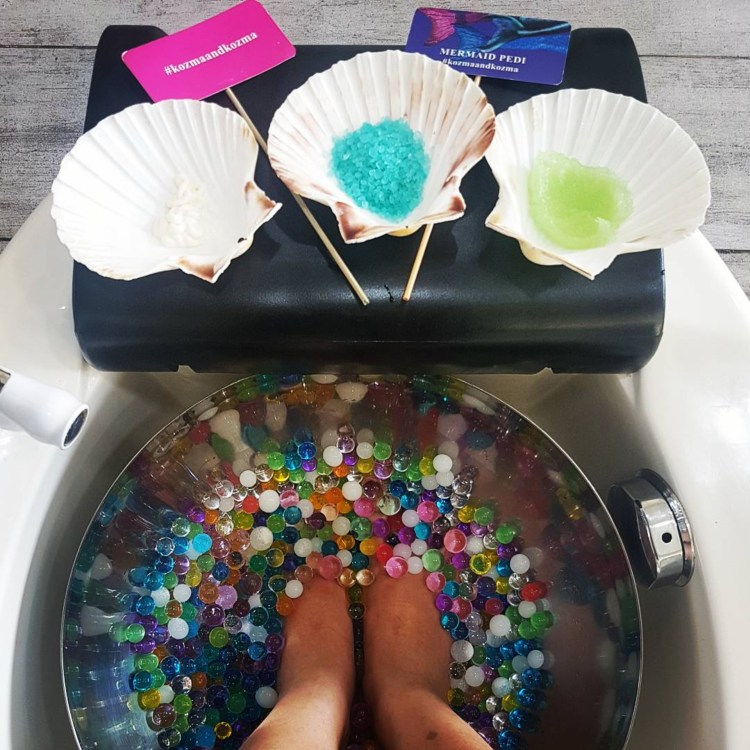 Mermaid pedicure at Kozma and Kozma