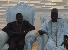 Photo of Pastor E.A Adeboye Sits On The Highest Royal Seat At Ooni Of Ife's Palace