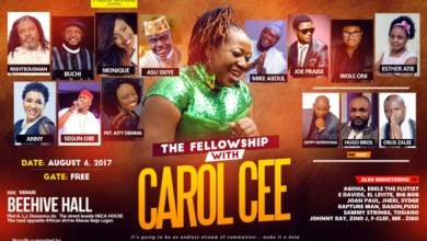 Photo of Event: THE FELLOWSHIP with Carol Cee [@iamCarolCee] on Sunday 06/08/2017 Make It A Date!