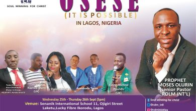 Photo of Event: Prophet Moses Olurin Brings 'Oseese' Double Event To Nigeria