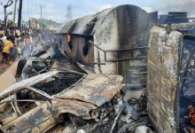Photo of Massive Explosion: Petrol Tanker Strike Lokoja, Kogi State.