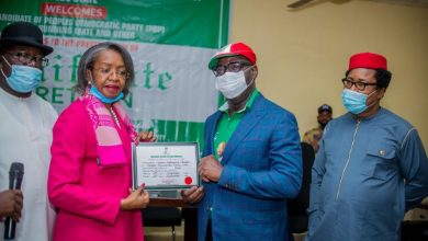 Photo of INEC: Governor Obaseki Receives A Certificate Of Return.