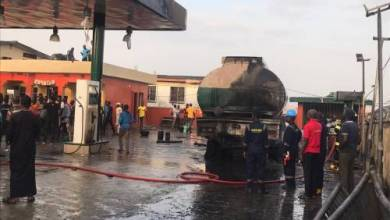 Photo of Fire Razes Petrol Station In Ogba, Lagos.