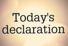 Photo of DAILY DECLARATIONS FOR TODAY 16 APRIL 2021