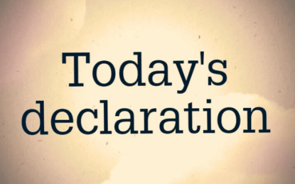 RCCG DAILY DECLARATIONS FOR TODAY