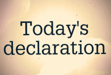 Photo of DAILY DECLARATIONS FOR TODAY 6 MAY 2021