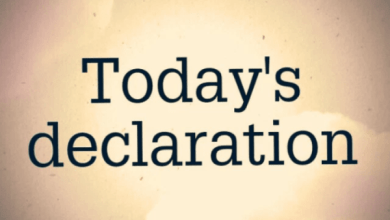 Photo of DAILY DECLARATIONS FOR TODAY 19 APRIL 2021