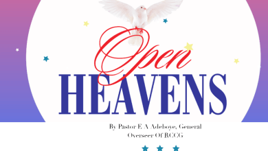 Photo of PRAYER POINTS FOR OPEN HEAVENS 22 APRIL 2021