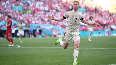 Photo of Denmark 1-2 Belgium