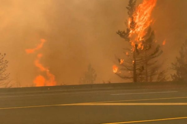 Wildfires rage across western Canada and California