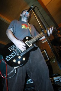 Dale Kellams playing guitar