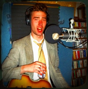 Dane DeLucci of Merkin with his mouth open on The Worst Little Podcast