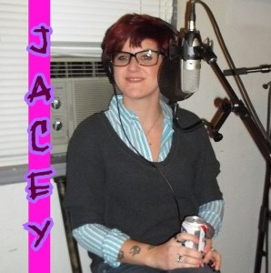 Jacey Goldfinger looking adorable on The Worst Little Podcast 2013 12 09
