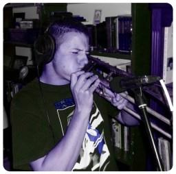 Andy Pavlu playing trombone