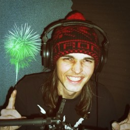 Connor Martin - with a firework on his finger