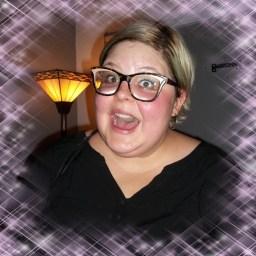 "Rhiannon BOx, yelling ""aaah!"" at the camera"