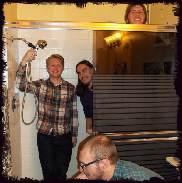 Mason Frey Nico Telles Kenny Shepherd Christian McNamara in the shower with clothes on