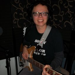 Emily Dunster, bass for Pink Awful