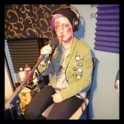 Sammi Ferox of Reno metal band Murderock posing for the camera at Dogwater Studios.