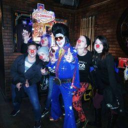 Clown Elvis at Sheas