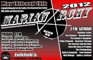 Marianarchy 2012 setlist