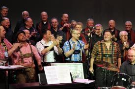 """Gute Laune wurde beim Musical-Konzert """"Schatz, wo geht die Reise hin?"""" groß geschrieben (Foto: Björn Othlinghaus)"""