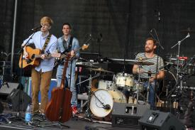 Lukas Herbertson und Band. (Foto: Björn Othlinghaus)