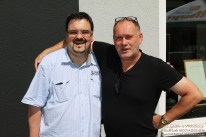 Björn mit Walter Lehnertz. (Foto: Arno Bück, MindFlash MEDIADESIGN)