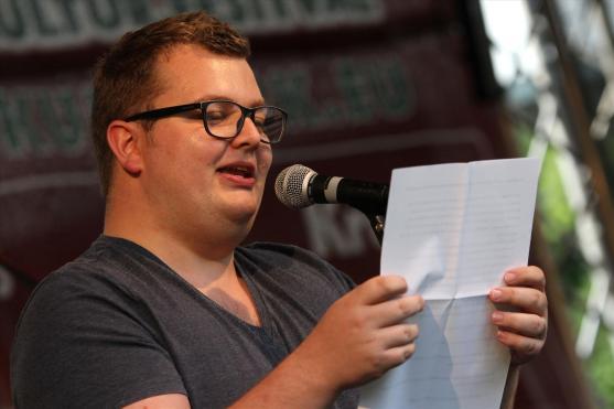 Poetry-Slammer Sebastian Hahn. (Foto: Björn Othlinghaus)