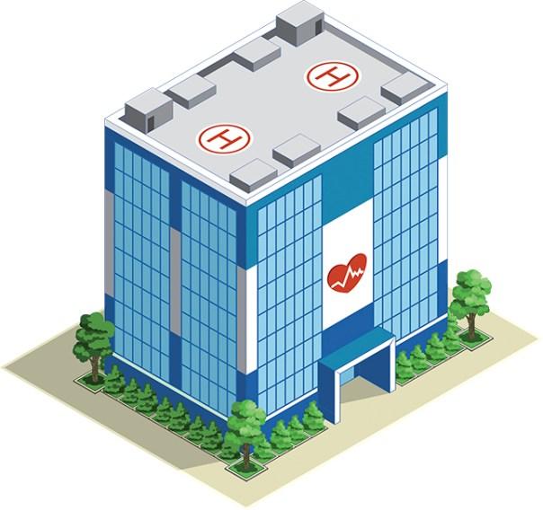 city hospital, cities