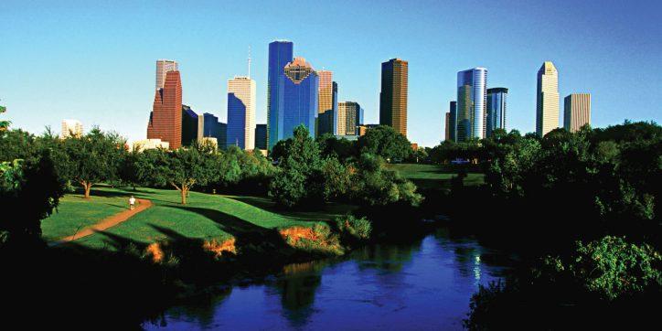 Downtown Skyline and Buffalo Bayou, Houston