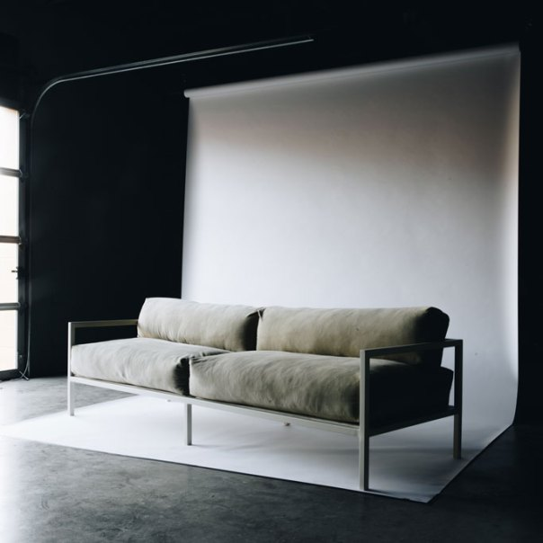 Metal-framed couch by Oil/Lumber — Oil/Lumber