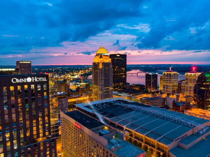 Downtown Louisville.