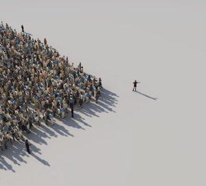 woman leading