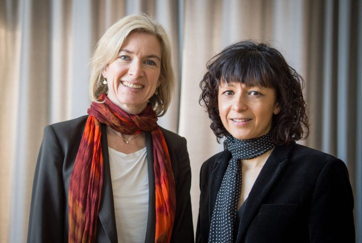 Emmanuelle Charpentier and Jennifer Doudna