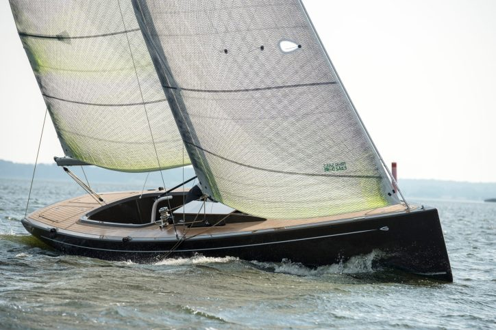 The Flax27 Daysailer. Photo courtesy of GREENBOATS