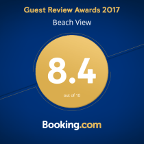 Worthing Accommodation Booking.com Award - Beach View Worthing