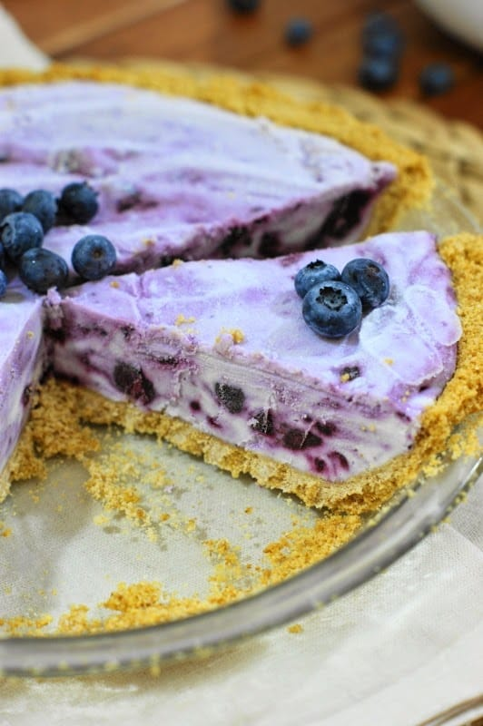 Recipe for Frozen Blueberry Pie