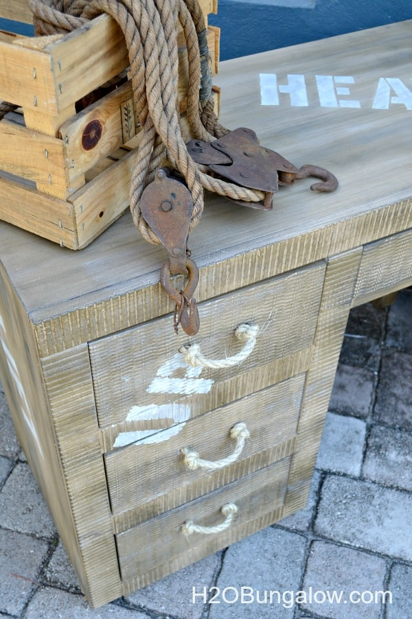 How to create faux painted cargo furniture