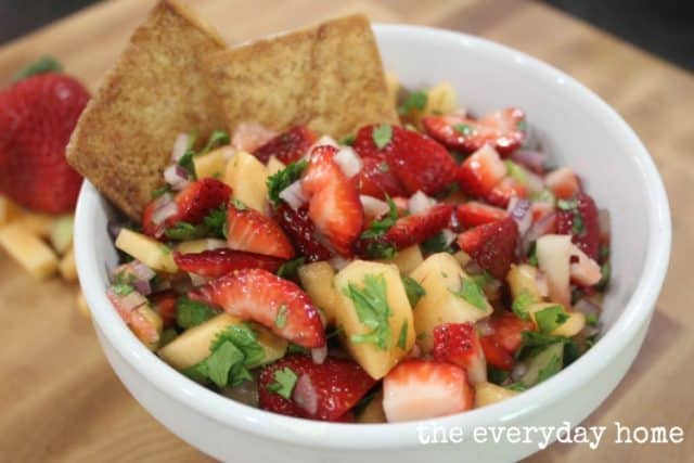 Strawberry Cantaloupe Salsa